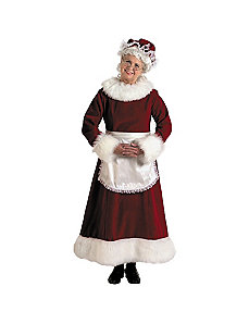 Mrs. Claus Dress Adult Plus Costume by Halco