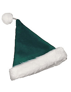 Velvet Santa Hat Green by Halco
