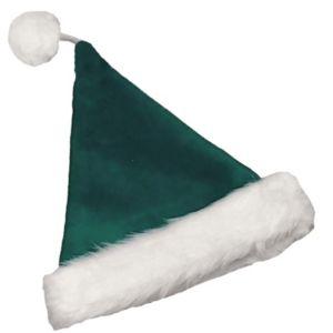 Velvet Santa Hat Green