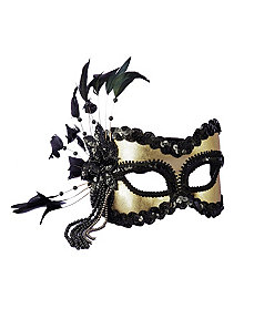 Black and Gold Carnival Mask by Forum Novelties Inc
