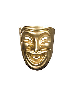 Gold Comedy Mask by Disguise