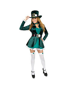 Sexy Leprechaun with Hat Plus Adult Costume by Charades Costumes