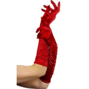 Temptress Long Red Gloves