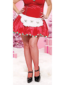 Fence Net Pantyhose Adult Plus (Red) by Leg Avenue