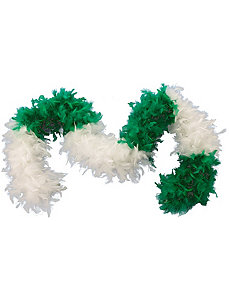 Green & White Feather Boa Adult by Forum Novelties Inc