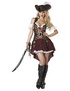Sexy Swashbuckler Adult Plus Costume by California Costumes