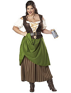 Tavern Maiden Adult Plus Costume by California Costumes