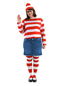 Where's Waldo -  Wenda Plus Adult Costume by Elope