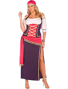 Gypsy Maiden Plus Adult Costume by Elegant Moments