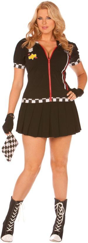 Pit Crew Princess Plus Adult Costume