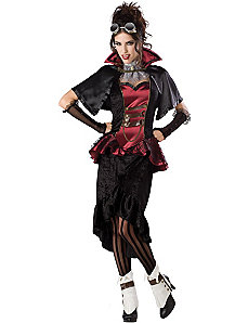 Steampunk Victorian Vampiress Adult Plus Costume by In Character Costumes