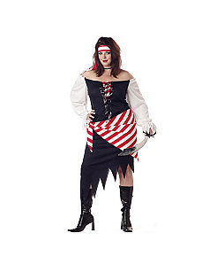 Ruby The Pirate Beauty Plus  Adult Costume by California Costume Collection