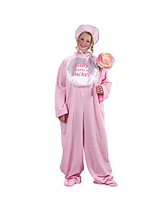 Be My Baby Jammies Plus (Pink) Adult Costume by Fun World