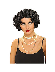 Flapper Wavy Wig (Black) by Forum Novelties Inc