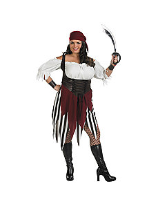 Deck Hand Darling Plus Adult Costume by Disguise