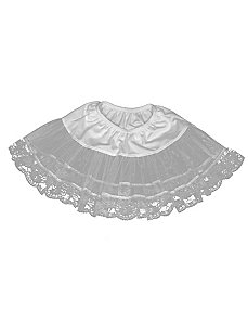 Lace Petticoat (White) Plus by Charades Costumes