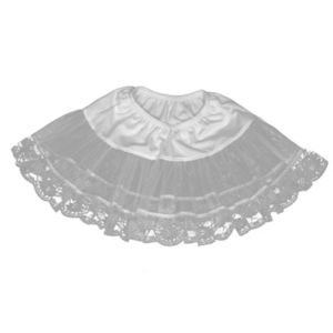 Lace Petticoat (White) Plus
