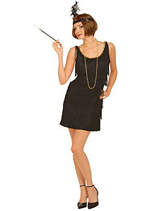Black Flapper Adult Plus Costume by Forum Novelties Inc