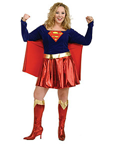 Supergirl Adult Plus Costume by Rubie's Costume Co