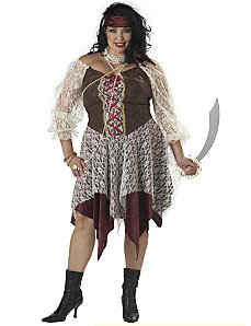South Seas Siren Adult Plus Costume by California Costume Collection