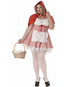 Lacey Red Riding Hood Adult Plus Costume by California Costume Collection