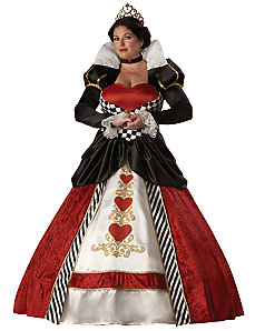 Queen of Hearts Elite Collection Adult Plus Costume by In Character Costumes
