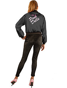 Pink Dolls Jacket (Black) Adult Plus Costume by Charades Costumes