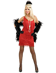 Fashion Flapper (Red) Costume by Charades Costumes