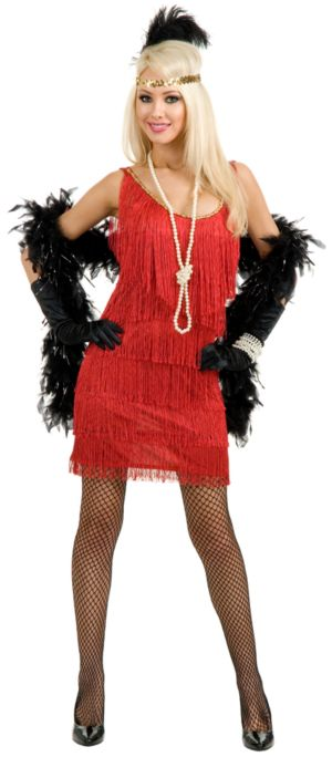 Fashion Flapper (Red) Costume