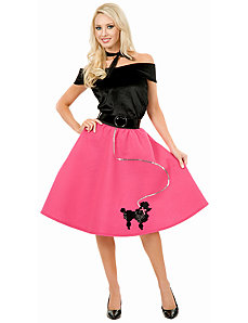 Pink Poodle Skirt Adult Plus Costume by Charades Costumes