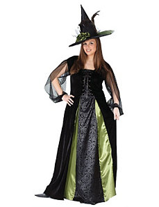 Goth Maiden Witch Plus Adult Costume by Fun World