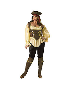 Rustic Pirate Lady Elite Collection Adult Plus Costume by In Character Costumes