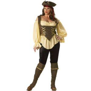 Rustic Pirate Lady Elite Collection Adult Plus Costume