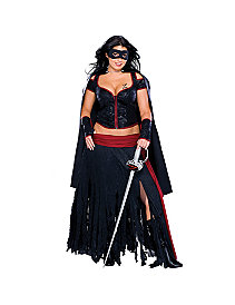 Lady Zorro Adult Plus Costume by Rubie's Costume Co