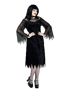 Vamp Robe with Mesh Sleeves Plus Adult Costume by Paper Magic Group