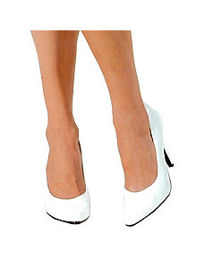 White Pump Adult Shoes - 6 by ELLIE SHOES