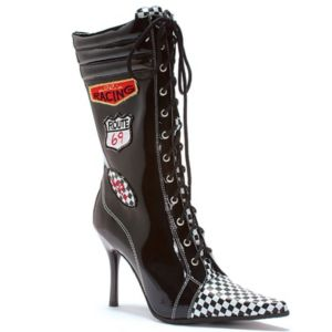 Racer (Black/White) Adult Boots