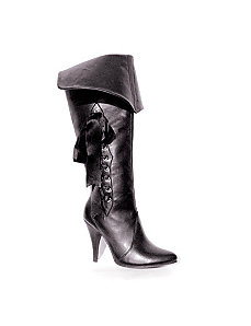 Pirate (Black) Adult Boots by ELLIE SHOES