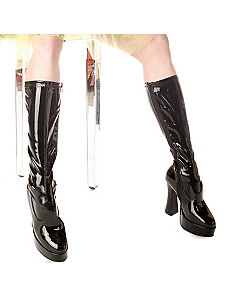 ChaCha (Black) Adult Boots by ELLIE SHOES