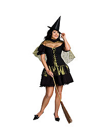 Sexy Wicked Witch Plus Adult Costume by Rubie's Costume Co