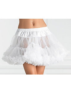 Tulle Petticoat (White) Plus by Leg Avenue