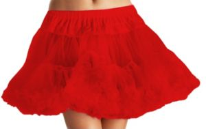 Layered Tulle Petticoat Red - Plus