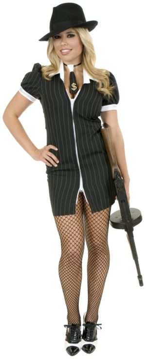 Gangster Moll (Black/White) Costume