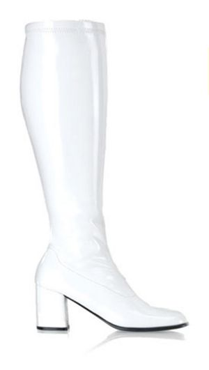Gogo (White) Boots - Wide Width