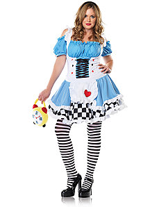 Miss Wonderland Adult Plus Costume by Leg Avenue