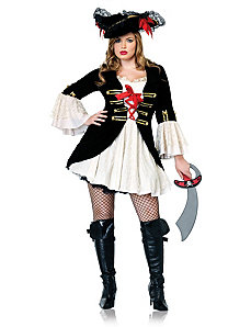 Captain Swashbuckler Plus Adult Costume by Leg Avenue