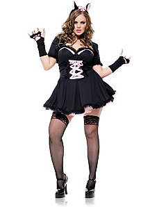 Purrfectly Pretty Kitty Plus Adult Costume by Leg Avenue