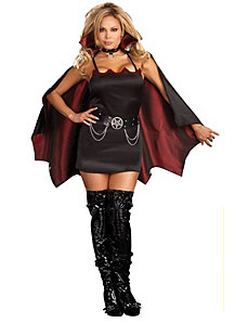 Fang Bangin Fun Vamp Plus Adult Costume by Dreamgirl