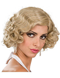 Flapper Wig Adult (Blonde) by Rubie's Costume Co