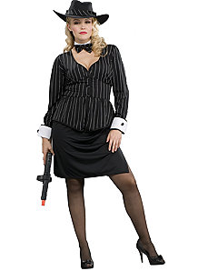 Gorgeous Gangster Adult Plus Costume by Forum Novelties Inc